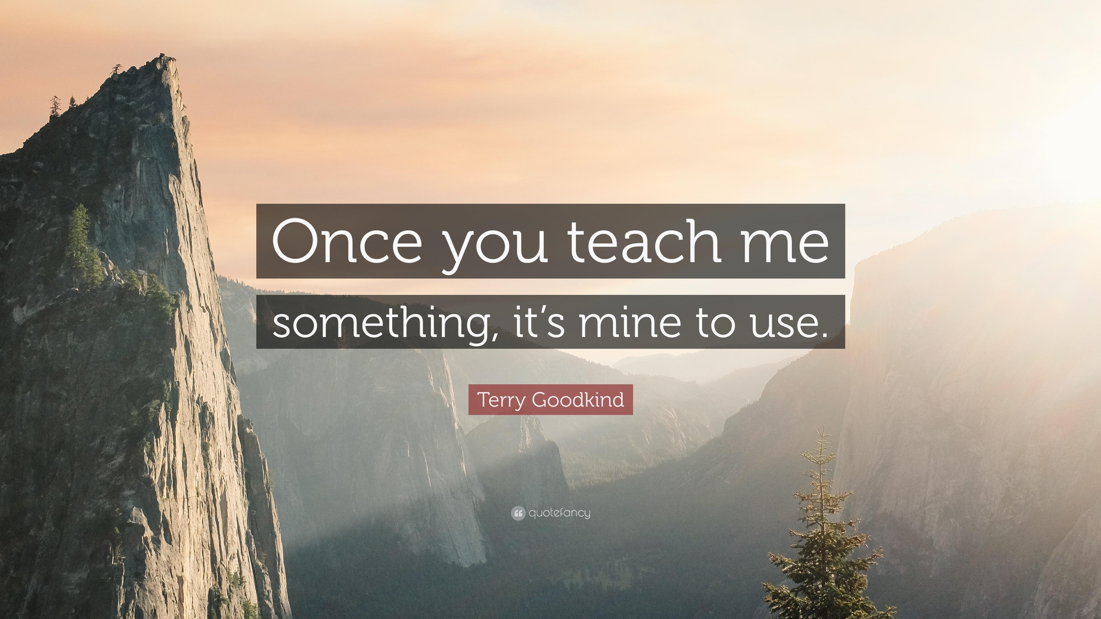 Returning Something Teach Me