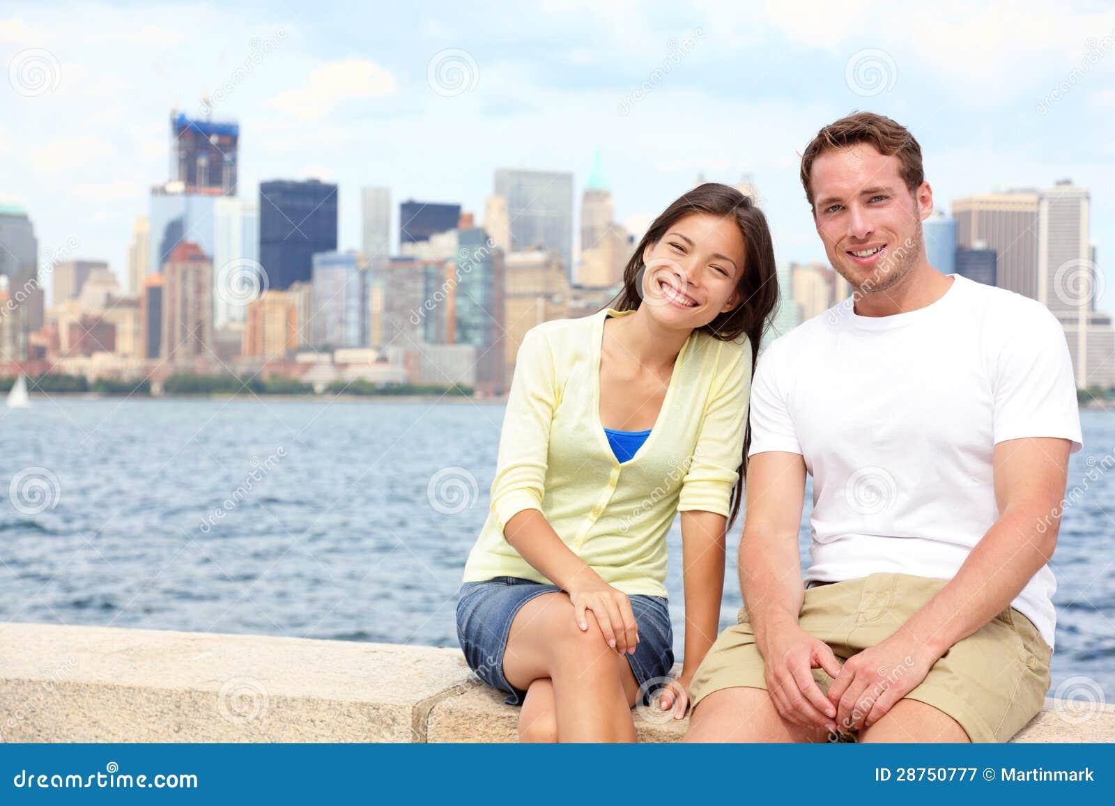 States 4 Manhattan Couple Only Asian White Couple