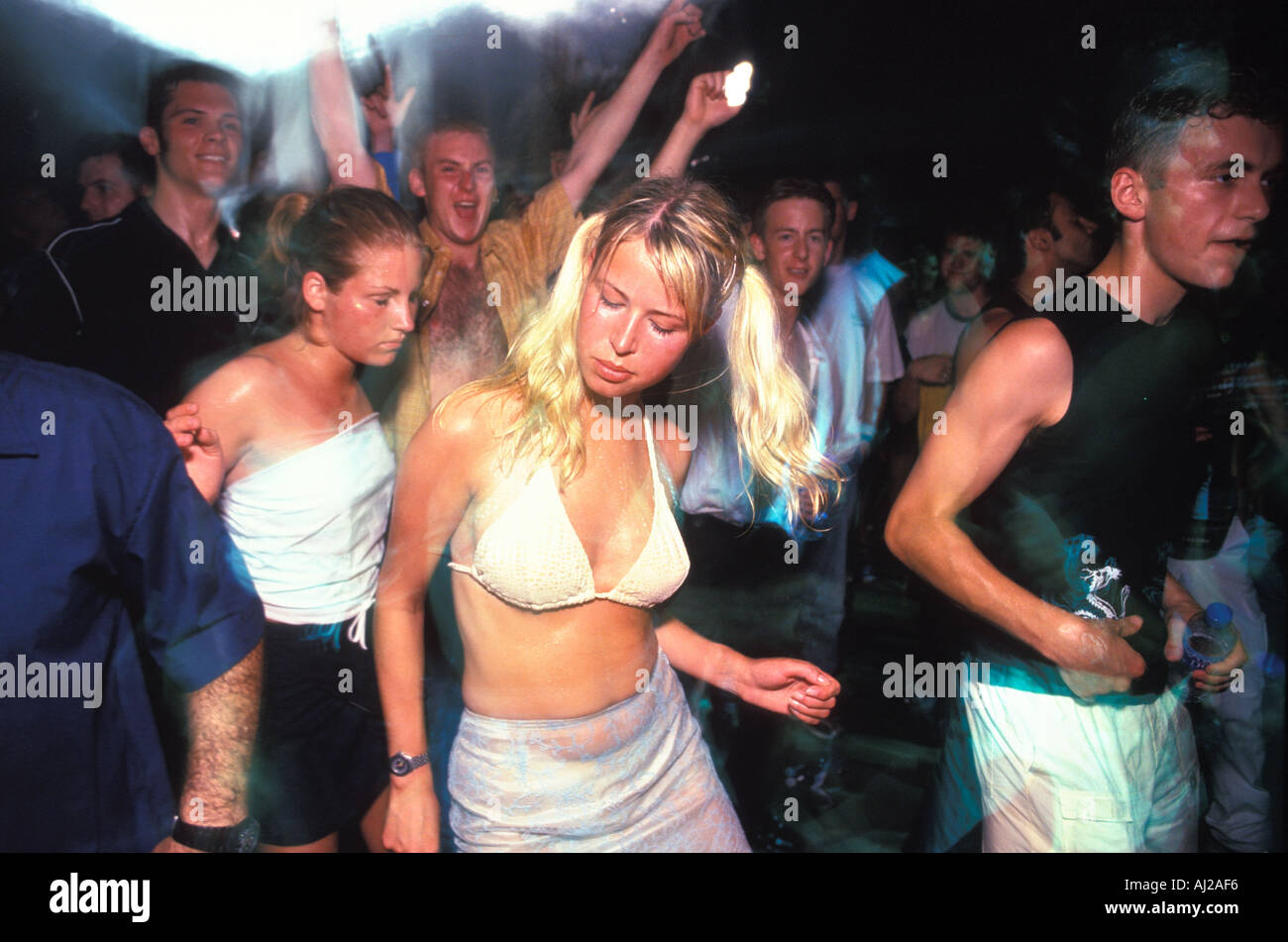 Flower In Club Ibiza Night Spain Girls In