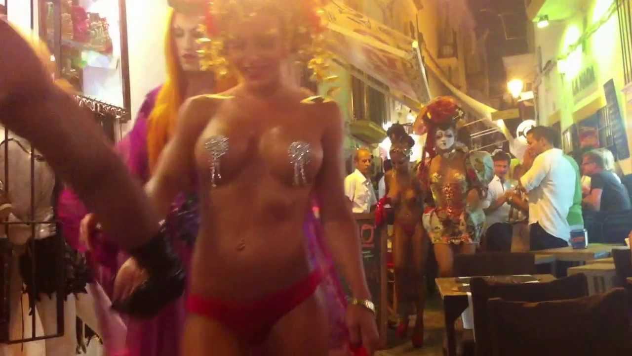 Club Spain In Night In Girls Ibiza