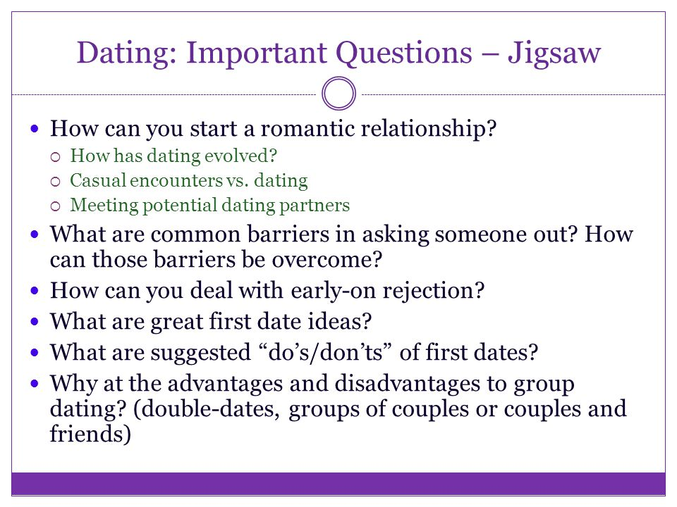 Questions Important Dating