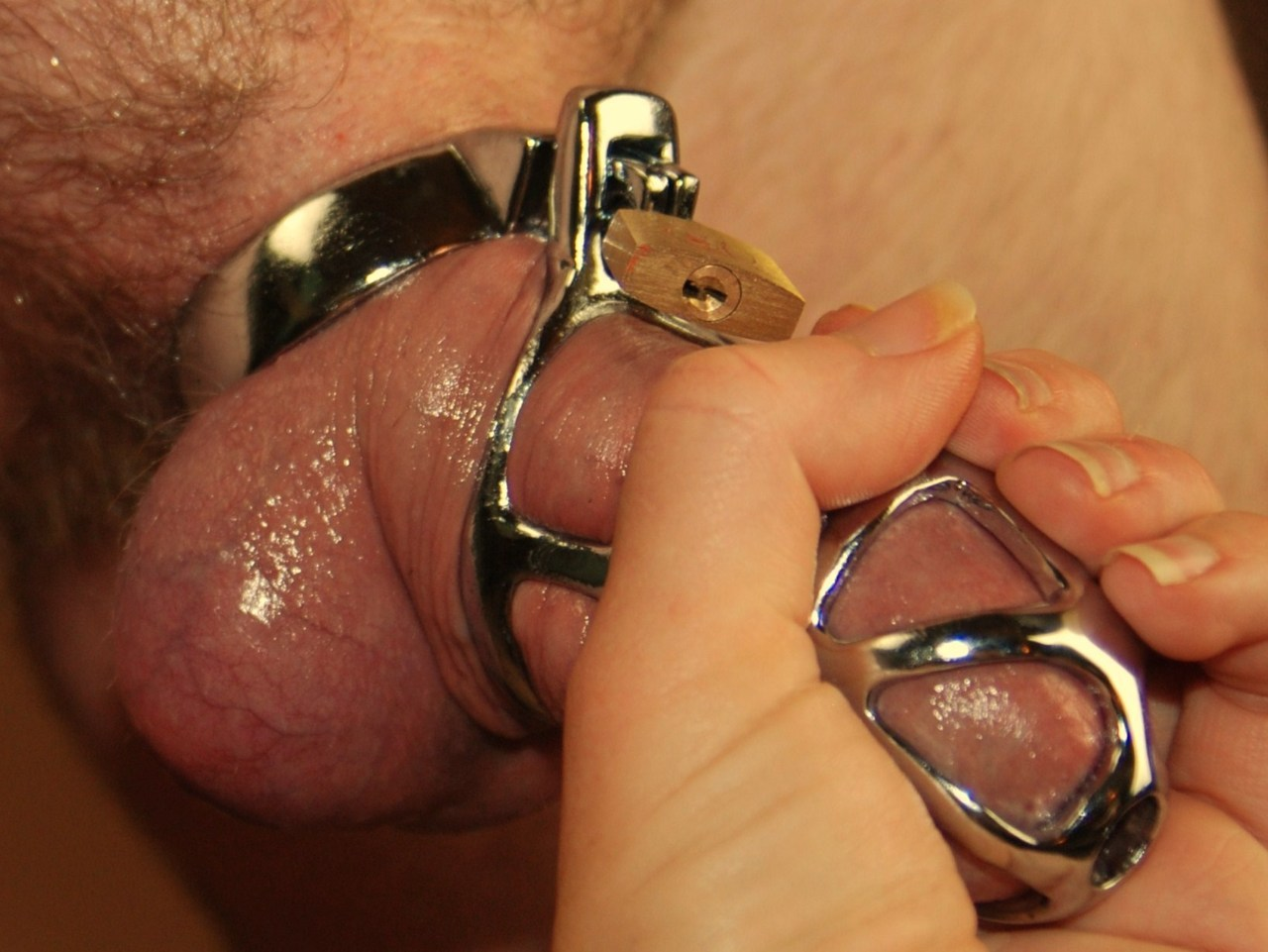 Large Lust Chastity In Locked Male